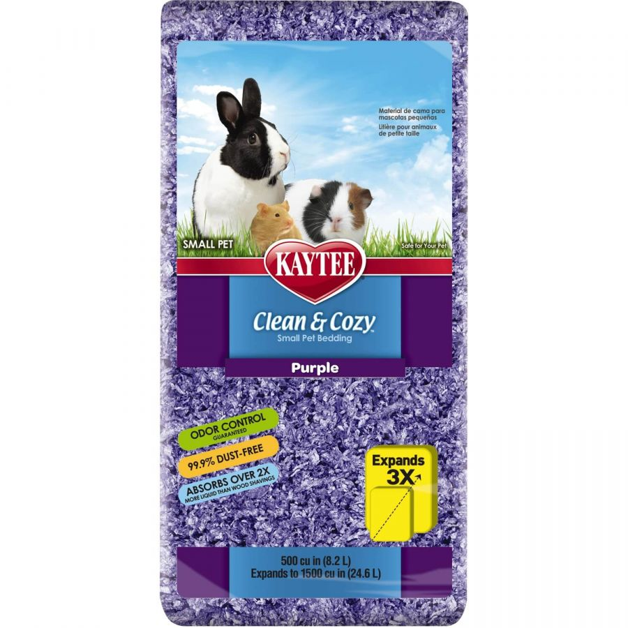 Kaytee Clean & Cozy Small Pet Bedding - Purple 500 Cubic Inches - All Pets Store