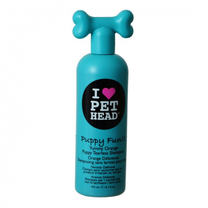 Pet Head Puppy Fun Puppy Tearless Shampoo - Yummy Orange 16.1 oz (475 ml)