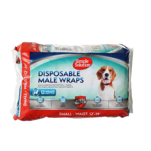 Simple Solution Disposable Male Wraps - Small 12 Count - All Pets Store