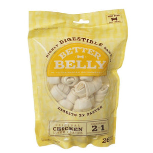 Better Belly Rawhide Chicken Liver Bones - Mini 26 Count - All Pets Store