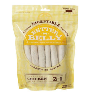 Better Belly Rawhide Chicken Liver Rolls - Small 20 Count - All Pets Store