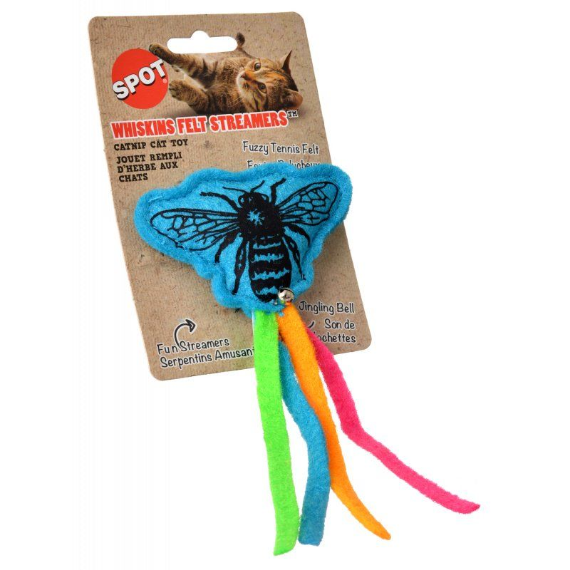 Spot Whiskins Felt Streamer with Catnip - Assorted Colors 1 Count