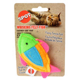 Spot Whiskins Felt Fish wth Catnip - Assorted Colors 1 Count
