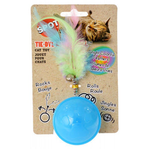Spot Tie Dye Roller Ball Cat Toy - Assorted Colors 1 Count
