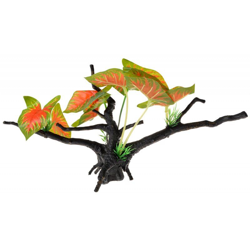 Penn Plax Driftwood Plant - Green & Red - Wide 1 Count - All Pets Store