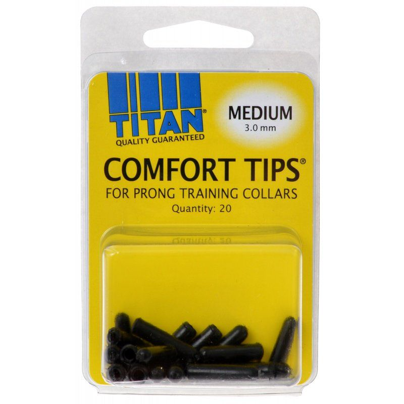 Titan Comfort Tips for Prong Training Collars Medium (3.0 mm) - 20 Count - All Pets Store