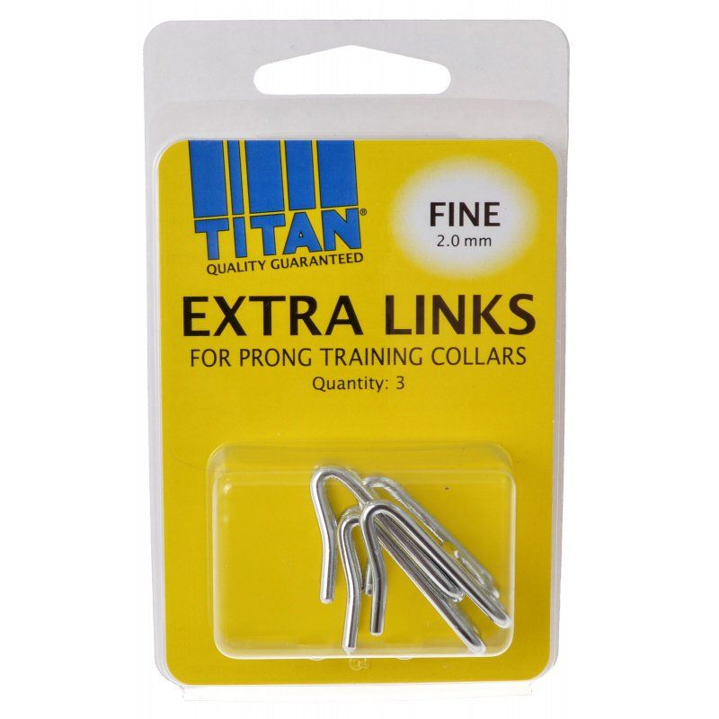 Titan Extra Links for Prong Training Collars Fine (2.0 mm) - 3 Count - All Pets Store
