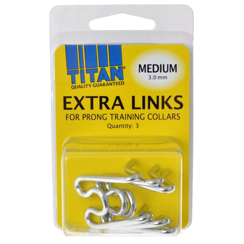 Titan Extra Links for Prong Training Collars Medium (3.0 mm) - 3 Count - All Pets Store