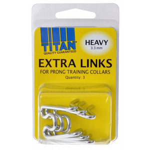 Titan Extra Links for Prong Training Collars Heavy (3.3 mm) - 3 Count - All Pets Store