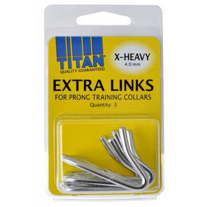 Titan Extra Links for Prong Training Collars X-Heavy (4.0 mm) - 3 Count - All Pets Store