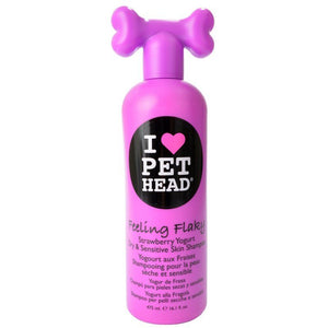 Pet Head Feeling Flaky Dry & Sensitive Skin Shampoo - Strawberry Yogurt 16.1 oz - All Pets Store