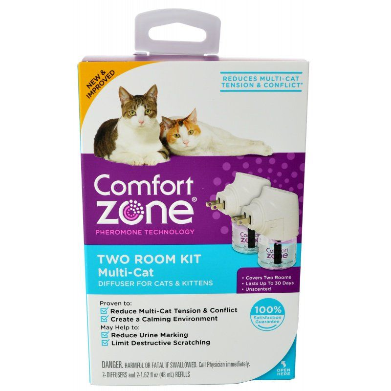 Comfort Zone Two Room Multicat Calming Diffuser 2 Count - (2 Diffusers & 2 Refills) - All Pets Store