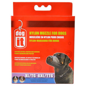 "Dog It Nylon Muzzle for Dogs XX-Large - (9.4"" Long) - All Pets Store"