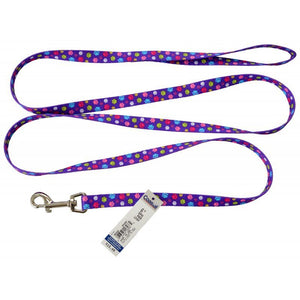 "Pet Attire Styles Nylon Dog Leash - Special Paw 6' Long x 5/8"" Wide - All Pets Store"