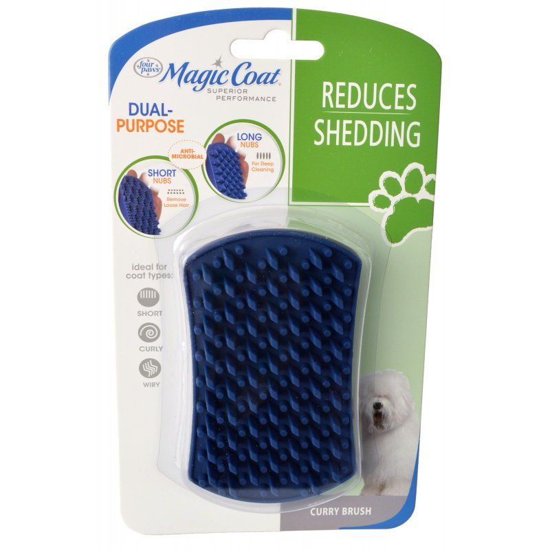 Magic Coat Dual Purpose Curry Brush 1 Count - All Pets Store