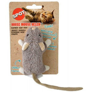 "Spot House Mouse Helen Catnip Toy - Assorted Colors 1 Count (4"" Long) - All Pets Store"