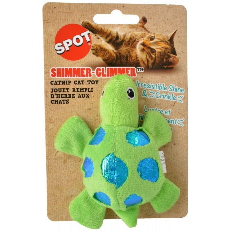 Spot Shimmer Glimmer Turtle Catnip Toy - Assorted Colors 1 Count