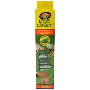 "Zoo Med Eco Carpet Reptile Carpet - Tan 10 Gallon (10"" x 20"") - All Pets Store"