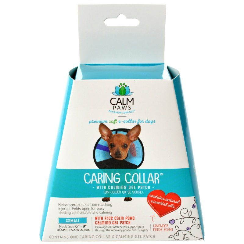 Calm Paws Caring Collar with Calming Gel Patch for Dogs X-Small - 1 Count - (Neck: 6