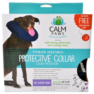 "Calm Paws Premium Inflatable Protective Collar X-Large - 1 Count - (Neck: 18"" & Up)"