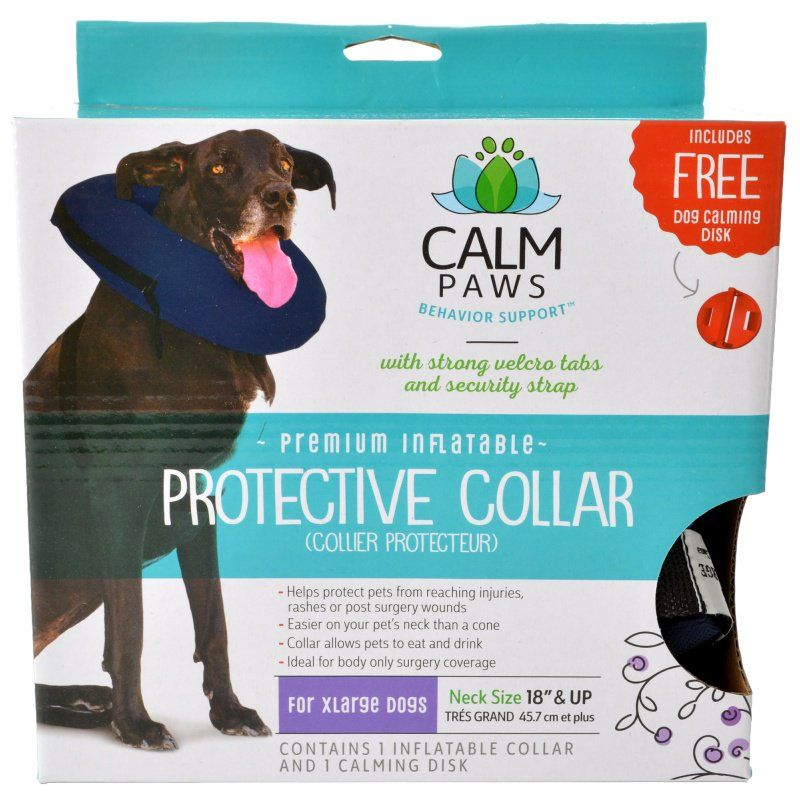 "Calm Paws Premium Inflatable Protective Collar X-Large - 1 Count - (Neck: 18"" & Up) - All Pets Store"