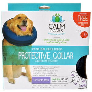 "Calm Paws Premium Inflatable Protective Collar Large - 1 Count - (Neck: 13""-18"") - All Pets Store"