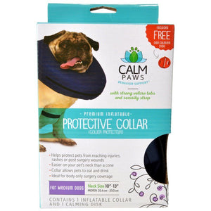 "Calm Paws Premium Inflatable Protective Collar Medium - 1 Count - (Neck: 10""-13"") - All Pets Store"
