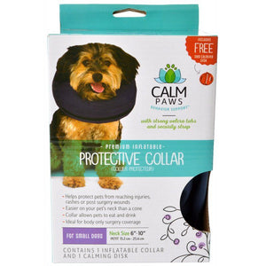 "Calm Paws Premium Inflatable Protective Collar Small - 1 Count - (Neck: 6""-10"")"