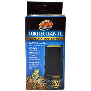 Zoo Med TurtleClean Replacement Filter Cartridge Small - 1 Count - (10 Gallons) - All Pets Store