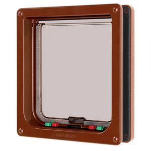 "Cat Mate Large Cat Flap - Brown 9.25""W x 10""H - All Pets Store"