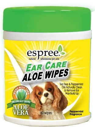Espree Ear Care Aloe Wipes 60 Count - All Pets Store