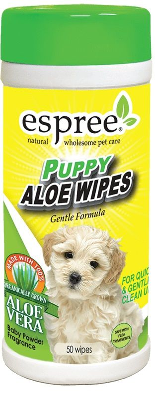 Espree Puppy Aloe Wipes 50 Count