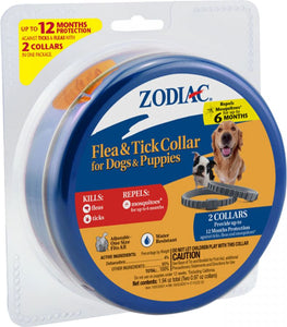 Zodiac Flea & Tick Collar for Dogs and Puppies 2 Collars - All Pets Store
