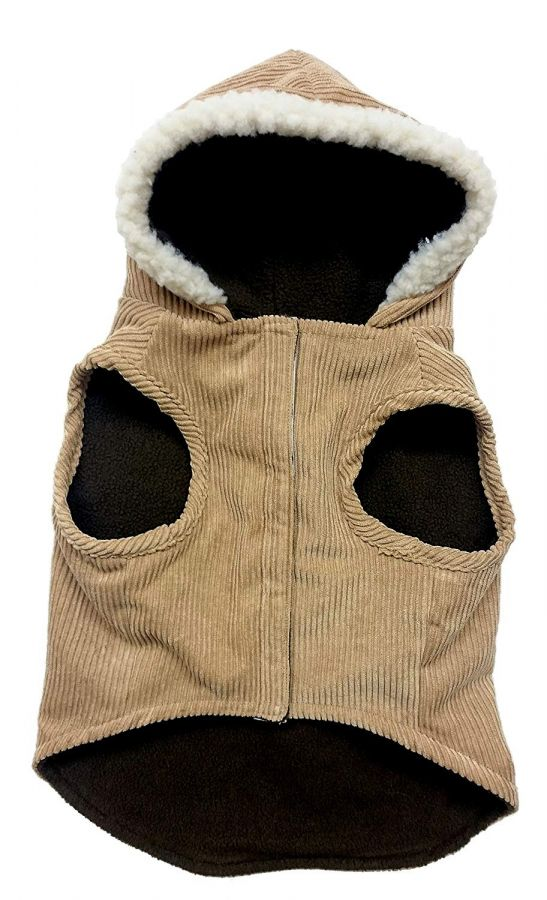 "Outdoor Dog Toggle Corduroy Dog Coat - Camel Small (10""-14"" Neck to Tail)"