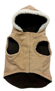 "Outdoor Dog Toggle Corduroy Dog Coat - Camel Small (10""-14"" Neck to Tail) - All Pets Store"