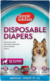 "Simple Solution Disposable Diapers Medium - 12 Count - (Waist 16.5""-21"") - All Pets Store"