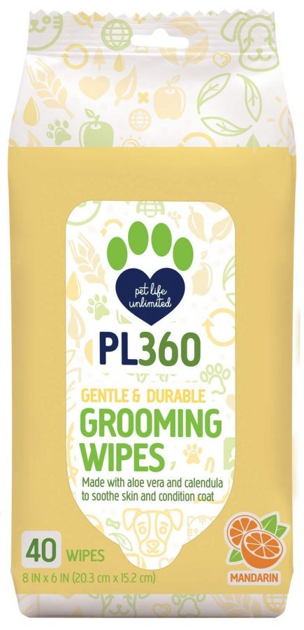 PL360 Grooming Wipes 40 Count