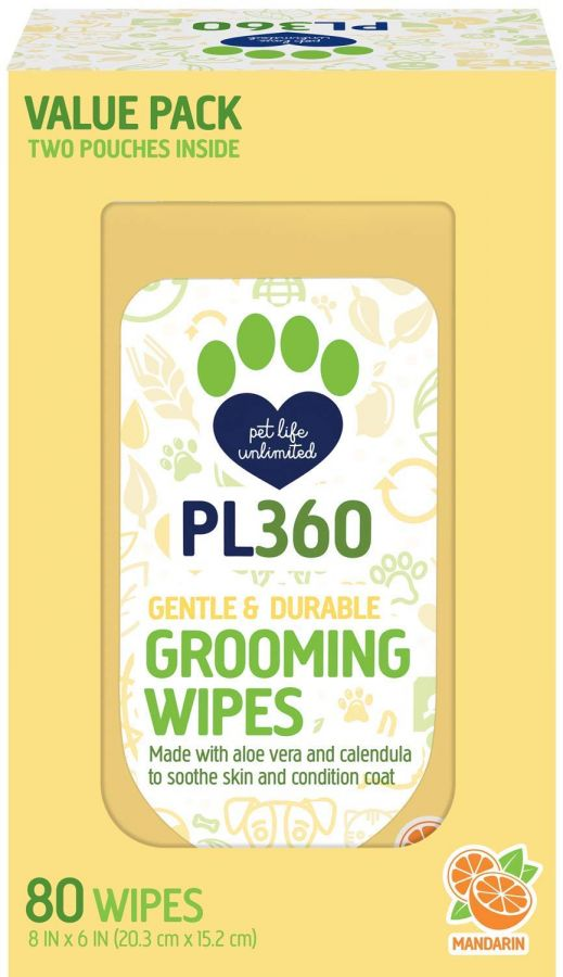 PL360 Grooming Wipes 80 Count