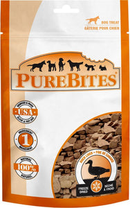 PureBites Duck Liver Freeze Dried Dog Treats 2.6 oz - All Pets Store