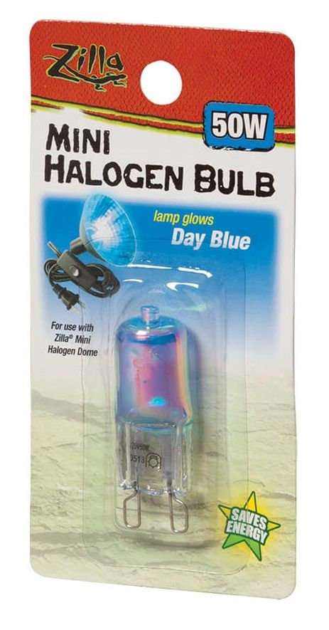 Zilla Mini Halogen Bulb - Day Blue 50W - All Pets Store