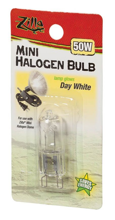 Zilla Mini Halogen Bulb - White 50W - All Pets Store