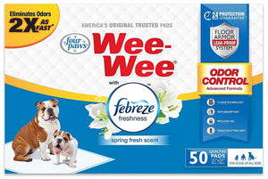 Four Paws Wee-Wee Pads - Febreze Freshness 50 Count - All Pets Store