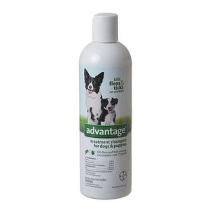 Advantage Flea & Tick Treatment Shampoo for Dogs & Puppies 12 oz - All Pets Store
