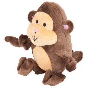 "Petmate Zoobilee Stretchies Monkey Dog Toy 5"" Long - All Pets Store"