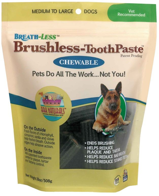 Ark Naturals Breath-Less Brushless Toothpaste Medium/Large Dogs (18 oz)