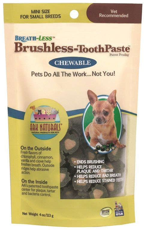 Ark Naturals Breath-Less Brushless Toothpaste Mini/Small (4 oz) - All Pets Store
