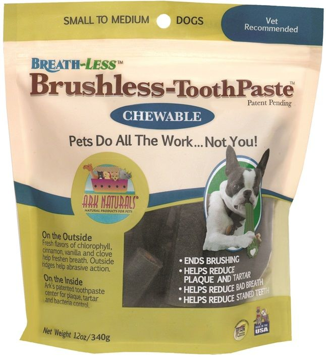Ark Naturals Breath-Less Brushless Toothpaste Small/Medium (12 oz) - All Pets Store