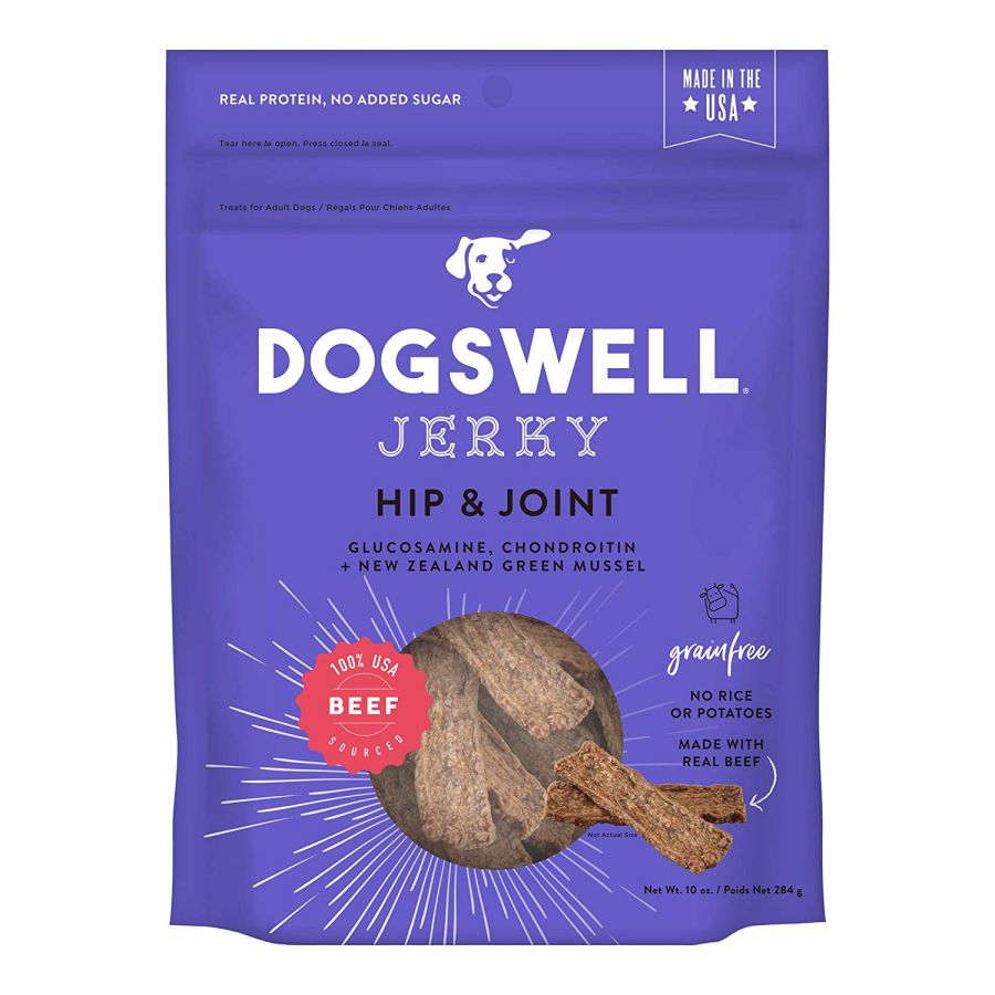 Dogswell Jerky Hip & Joint Dog Treats - Beef 10 oz - All Pets Store
