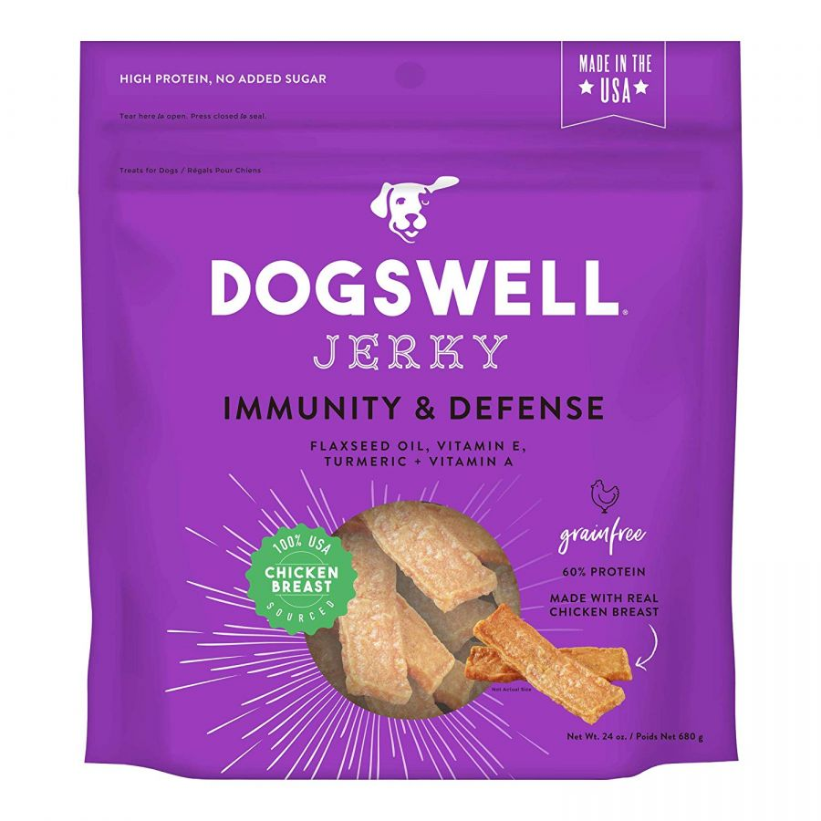 Dogswell Jerky Immunity & Defense Dog Treats - Chicken 24 oz - All Pets Store