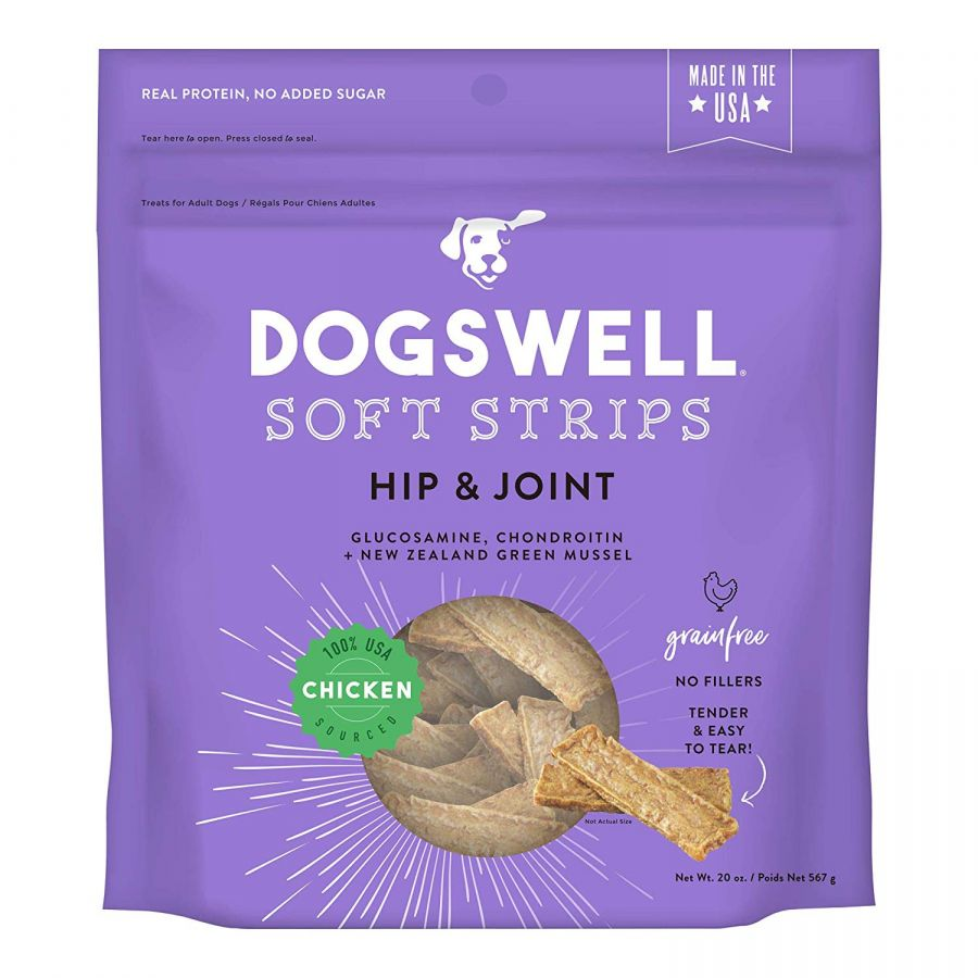 Dogswell Soft Strips Hip & Joint Dog Treats - Chicken 20 oz - All Pets Store